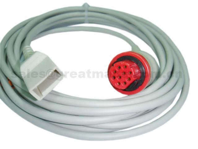 Datex Compatible-Utah IBP Adapter cable  1