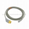 兼容Nihon kohden  ibp 電纜與飛利浦變頻器適配器 2