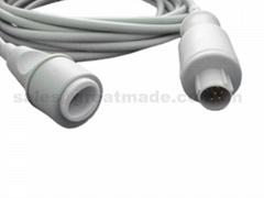 兼容 Nihon Kohden有创血压电缆-转爱德华接口有创电缆,5PIN