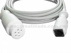 兼容 Datascope 雅培有创血压电缆,6PIN