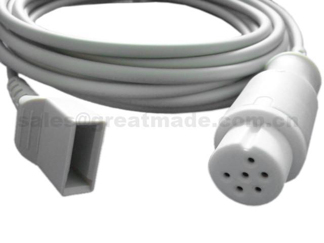 兼容 Datascope 尤它有創血壓電纜,6PIN 1