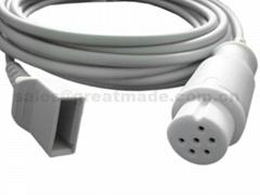 兼容 Datascope 尤它有创血压电缆,6PIN