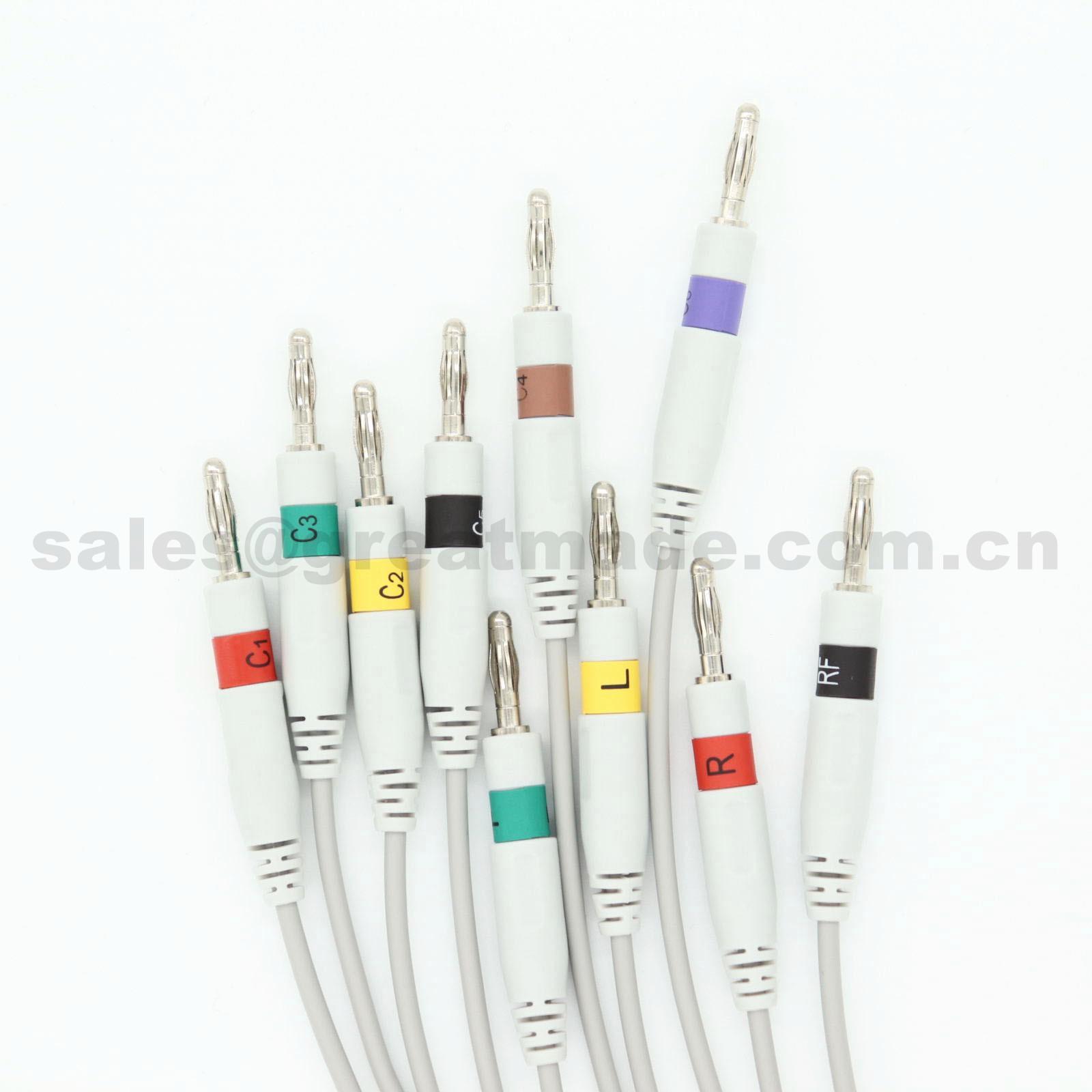 惠普M3703C心電圖機電纜及導聯線 (4.0 香蕉插 ) 4