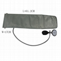 电子血压计配件 成人加长带铁环血压袖带(灰色),手臂周长32-43cm