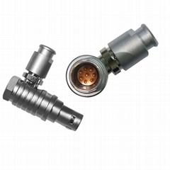 兼容FHG EGG 2B 2 3 4 5 6 7 810121619针金属推拉式连接器弯头插头/固定插座
