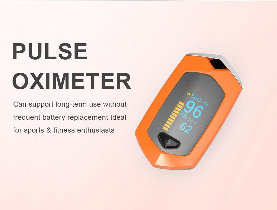 爆款 指夹式脉搏血氧仪 内置锂电池OLED屏幕心率仪 1