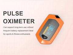 爆款 指夾式脈搏血氧儀 內置鋰電池OLED屏幕心率儀