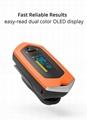 爆款 指夹式脉搏血氧仪 内置锂电池OLED屏幕心率仪 2