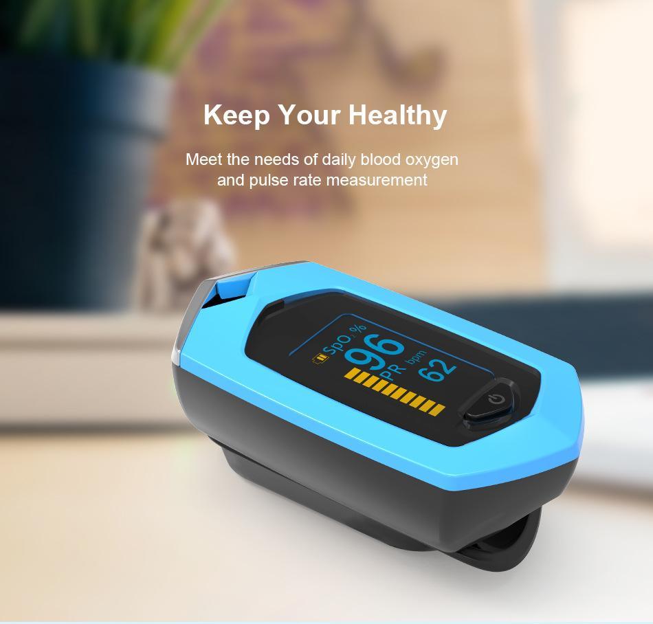 爆款 指夹式脉搏血氧仪 内置锂电池OLED屏幕心率仪 5