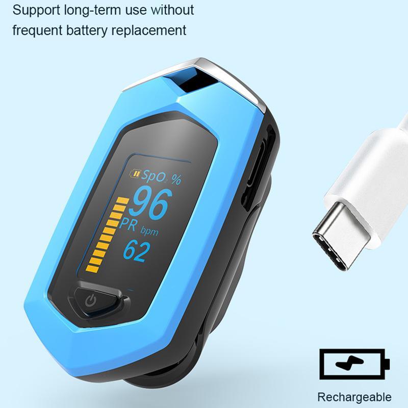 爆款 指夹式脉搏血氧仪 内置锂电池OLED屏幕心率仪 7