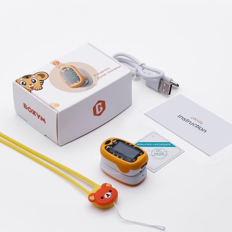 新款家用手指脈搏血氧儀 OLED屏幕血氧飽和度測心率儀 5