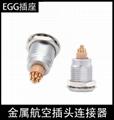 兼容FGG EGG 00 1B 2B 3B金属连接器推拉自锁航空插头固定插座