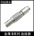 FGG 00B 0B 1B 2B 3B 金属连接器推拉自锁航空直插头
