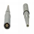 塑料连接器PRG 2-10针,14针1p 单定位带弯管缓解的自由插座