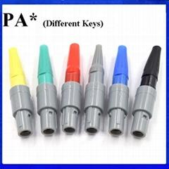 醫用連接器PAG PAA PAB PAC 2-10針14針1P公插頭0 40 60 80度雙定位