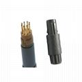 塑料连接器1P双定位PAG 1-10针14针40度推拉圆形直形插头,带螺母