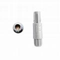 1P塑料连接器PAG 2-10针14针双定位60度推拉圆形直式插头,带螺母