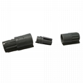 塑料连接器PAG 2-10针14针1P双定位80度推拉圆形直插头,带螺母