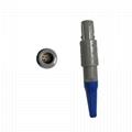 1P塑料连接器PAG 1-10针14针双定位80度推拉圆形直式插头,带弯曲释放