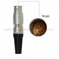 FGG PHG 2B系列12 14 16 19针推拉自锁金属直插头/自由插座连接器