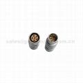 FGG PHG 2B系列6 7 8 10针推拉自锁金属直插头/自由插座连接器