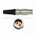 FGG PHG 2B系列302推拉自锁金属直插头/自由插座连接器