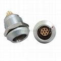 FGG EGG 2k系列6 7 8 10针推拉自锁金属直插头/固定插座连接器