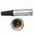 FGG EGG 2k 2 3针推拉自锁金属直插头/固定插座连接器