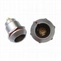 FGG EGG 1k 10 14 16针推拉自锁金属直插头/固定插座连接器