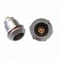 FGG EGG 1k系列3 4 5 6针推拉式自锁金属直插头/固定插座连接器