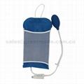 500ml重复使用输液加压袋增压袋(蓝色带显示器)网面医用