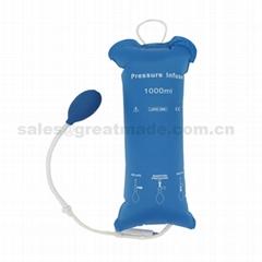 输血输液加压袋1000ml重复使用输液加压袋增压袋(蓝色)网