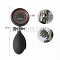 血壓計血壓監測配件 手勢式壓力顯示表300mmhg加黑色PVC壓力球 4