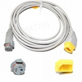 Nihon Kohden- BD IBP transducer  adapter cable 3