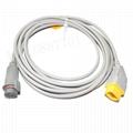 Nihon Kohden- BD IBP transducer  adapter cable 1