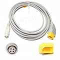 Nihon Kohden Compatible IBP cable with Philips Transducer Adapter 7