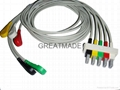 HP M1635A 5-lead IEC Snap Leadwires