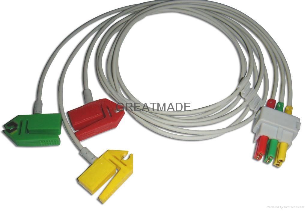 Datex-Ohmeda 3-Lead, IEC  ECG Leadwires   1
