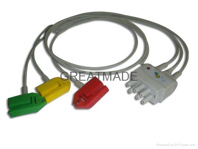 Nihon Kohden BR-019P Grabber  Leadwire  1