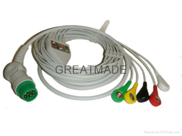 西門子一體五導歐標扣式電纜及導聯線 1