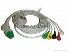 西門子一體五導歐標扣式電纜及導聯線
