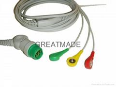 西門子一體三導歐標扣式電纜及導聯線