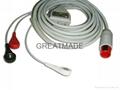 兼容于Bionet 直插式(一体式)3导美标扣式电缆及导联线