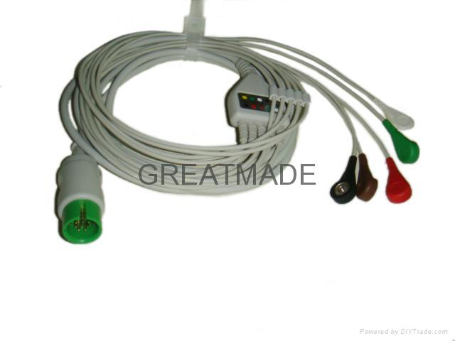 太空直插式(一體)電纜及五導美標扣式導聯線 1