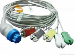 徳恩一体式电缆及5导夹式欧标导联线