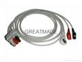 GE Pro1000 3-Lead AHA Snap Leadwires