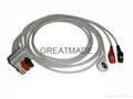 GE Pro1000 三導美標扣式導聯線
