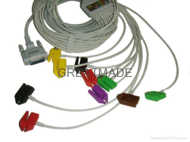 席勒心電圖機導聯線, 夾式 1