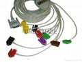 席勒心電圖機導聯線, 夾式