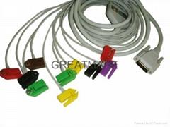 Nihon Kohden EKG cable , IEC , Clip